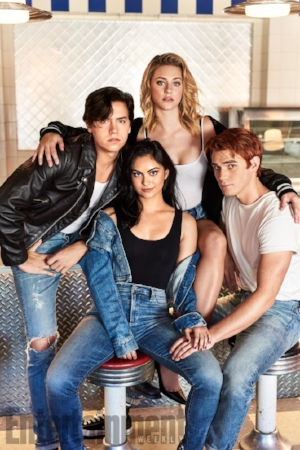 "Jughead, Betty, Veronica and Archie: the main actors of the TV show ""Riverdale"""