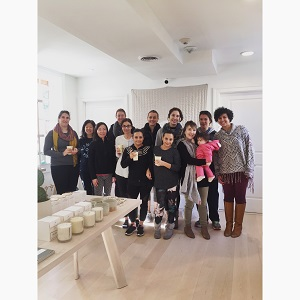 The group of women who did yoga to benefit Puerto Rico for Curar por Puerto Rico