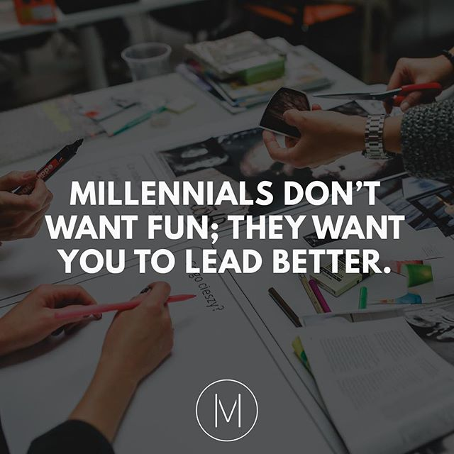 "There's this prevalent misconception that all millennials care about is ""fun"". Take a look at the link in our bio to see Mark Crowley's thoughts on the subject. What do you think millennials really want?"