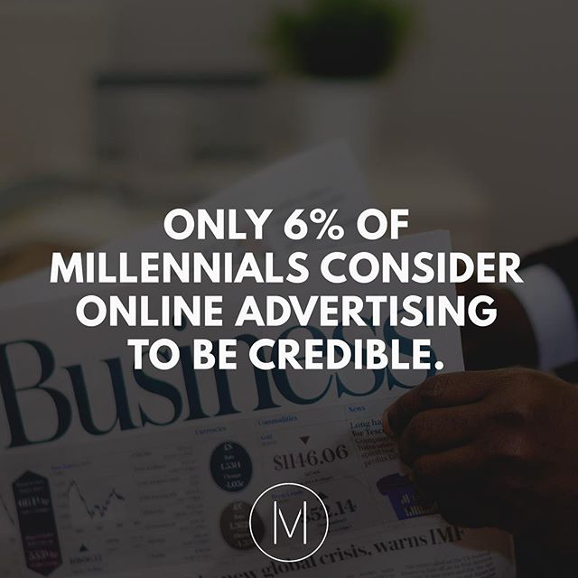 Why do you think millennials are turning away from online advertising?