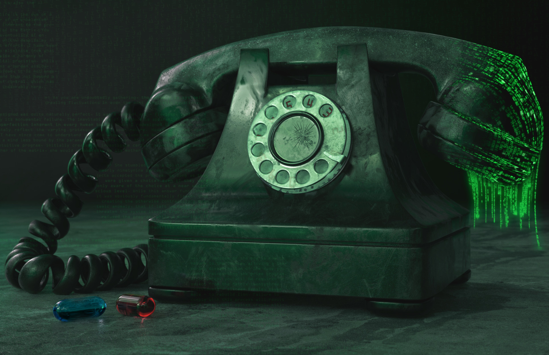 by  Nicolas Martinez . Cool idea! Nice texturing on the phone (a little heavy, but still nice!)