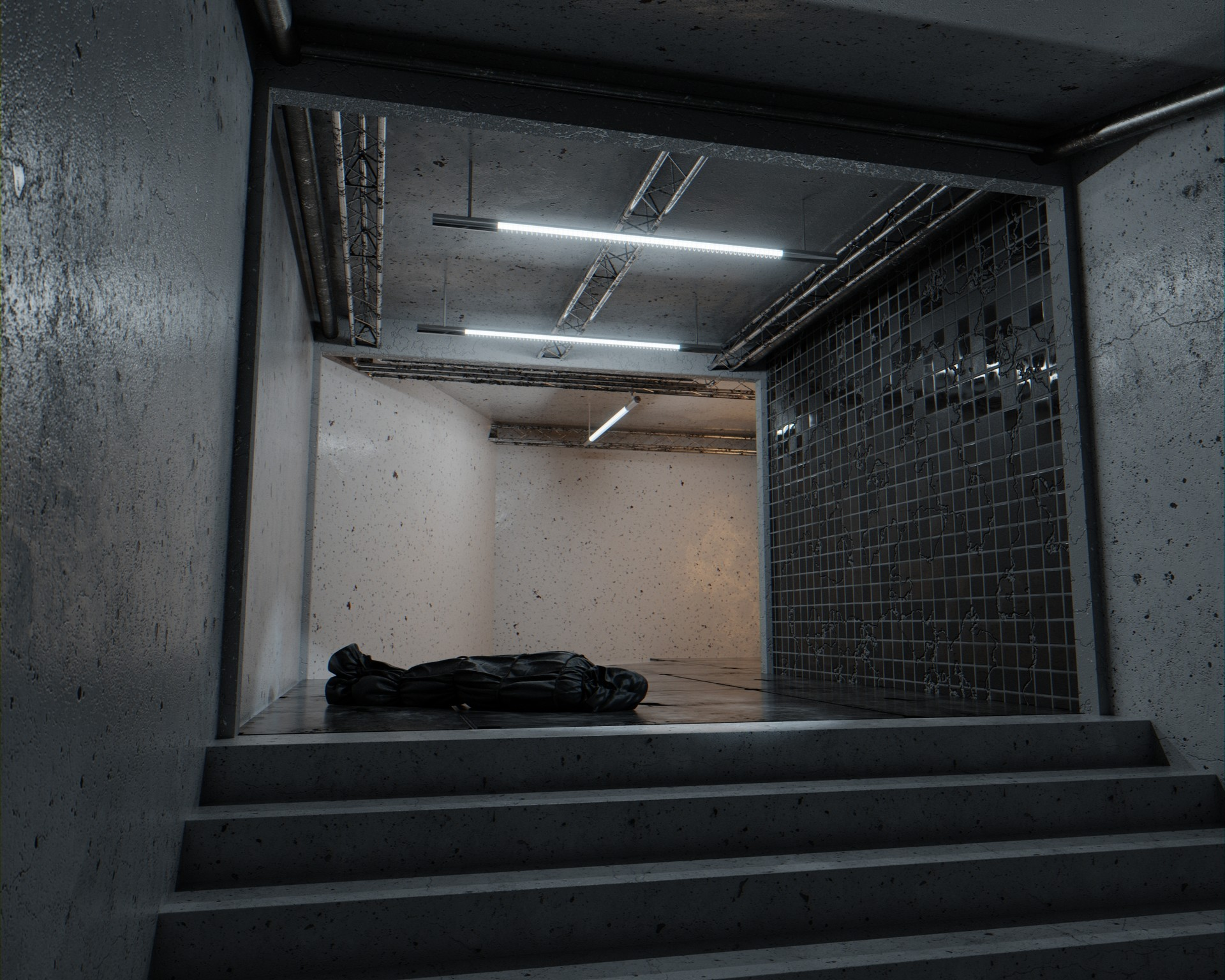 Creepy scene brah! Nice use of the  new tiles  and concrete materials by  George Turmanidze .