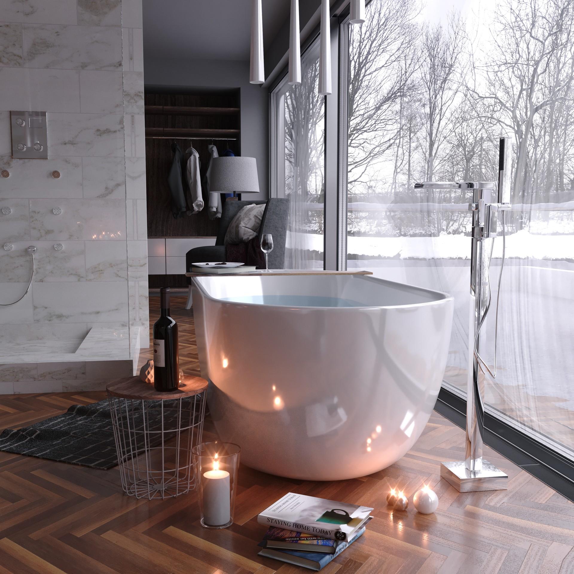 Winter Bliss by  Adam Radziszewski , using the  Wood  and  Tile  textures.