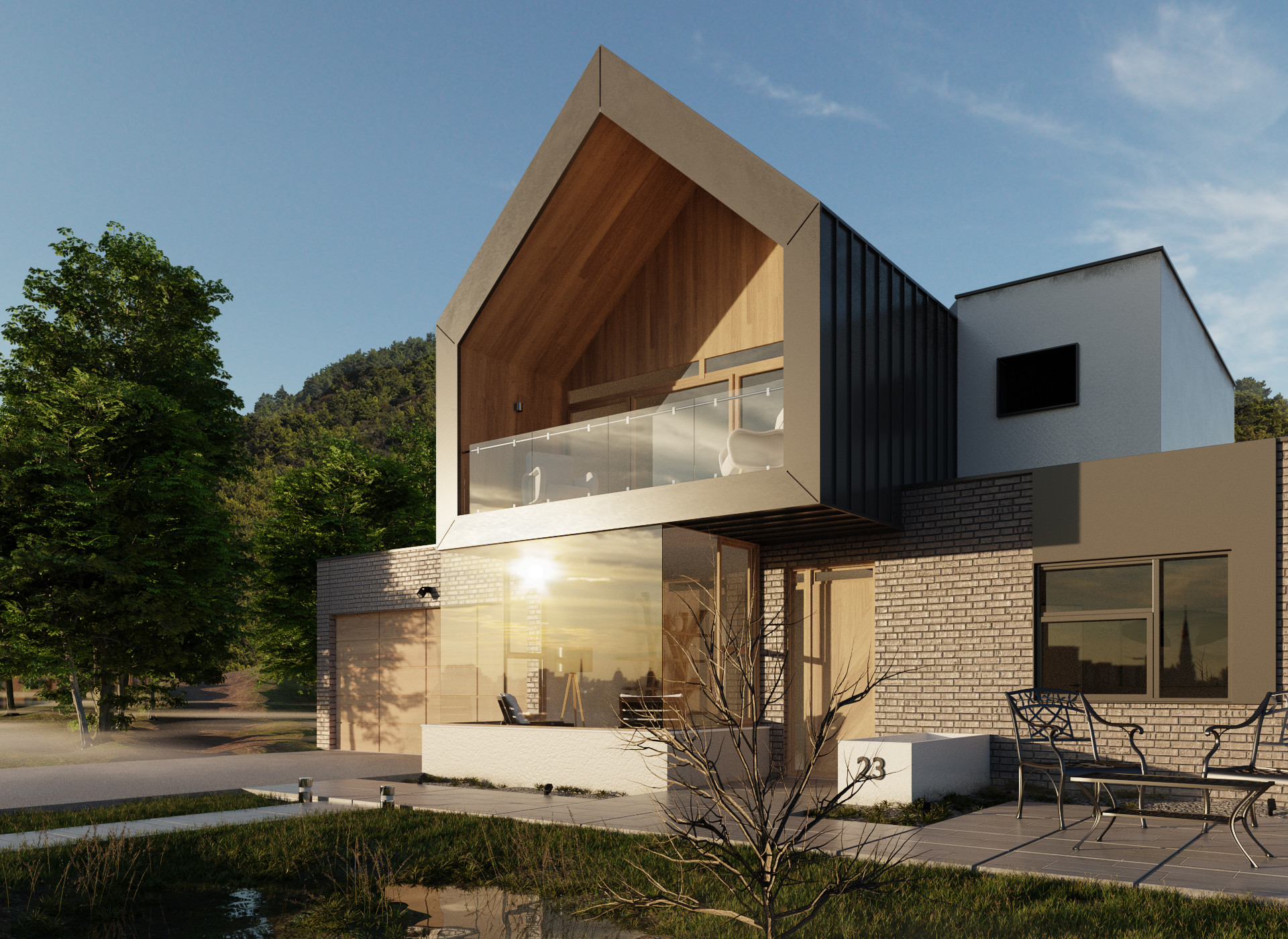 Forest House by  Joan Savalli , using the  Wood  and  Tiles  textures.