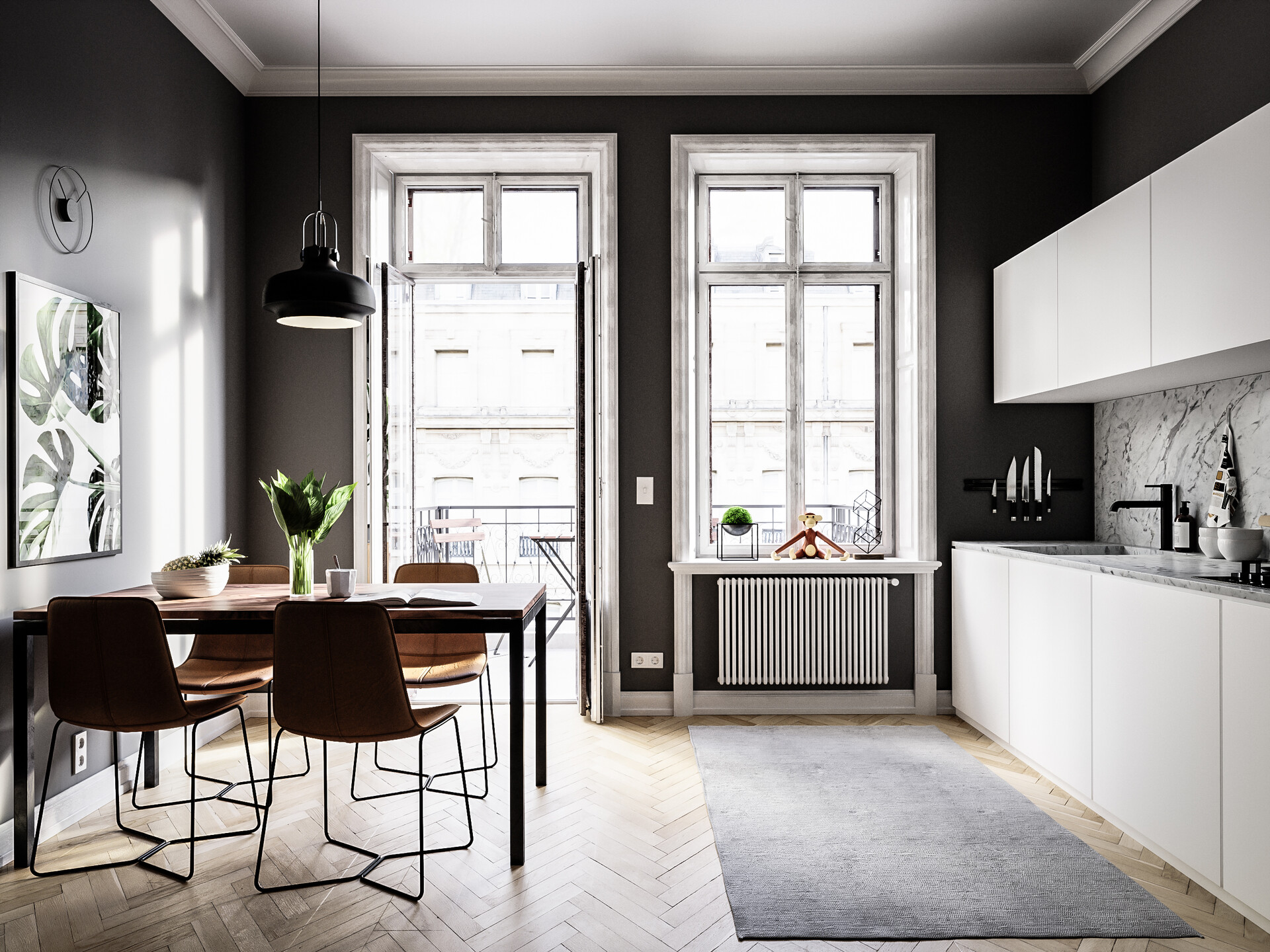 Minimalistic Nordic kitchen by   Bastian Hyldahl