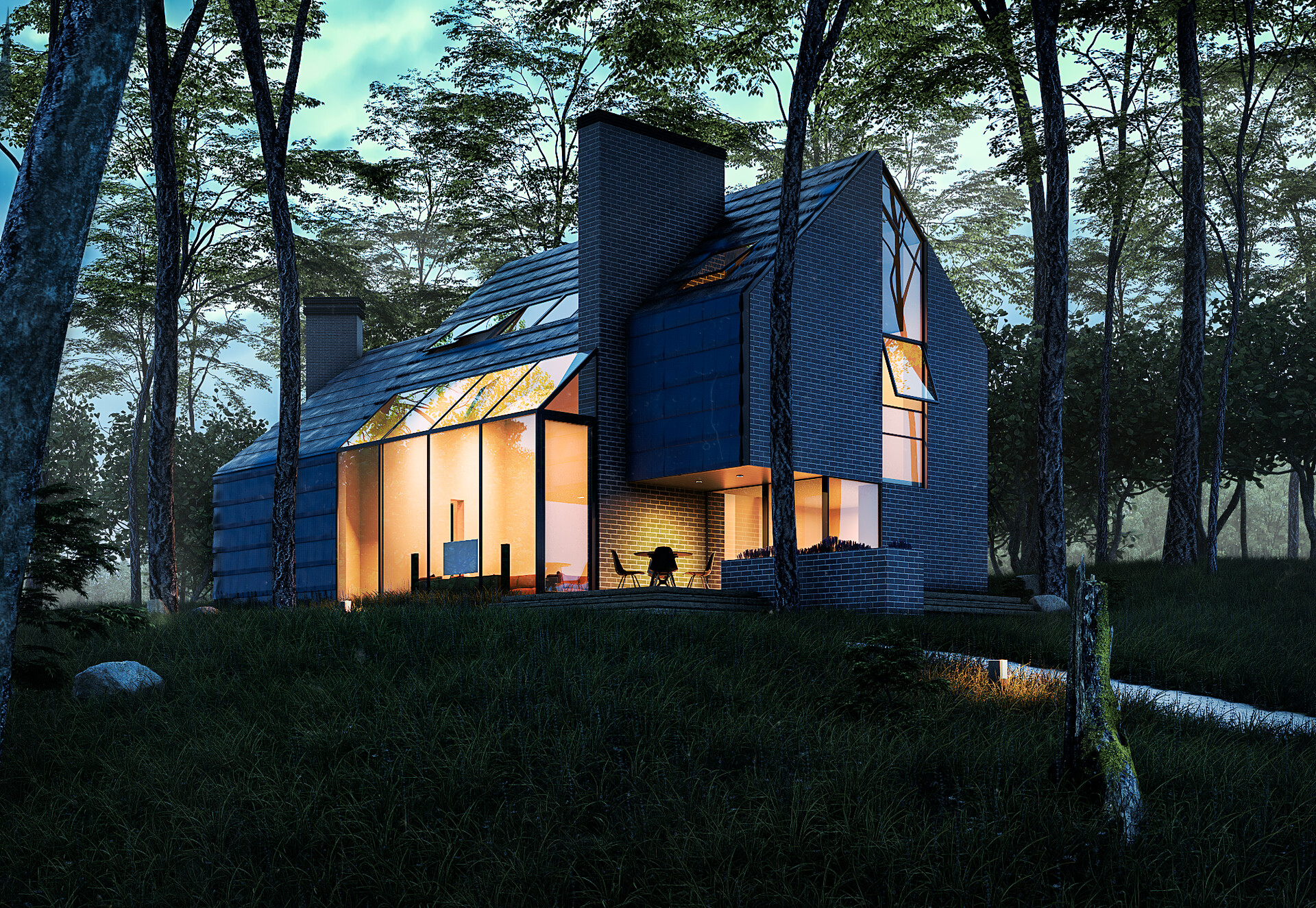 Forest house by  Henrique Barros