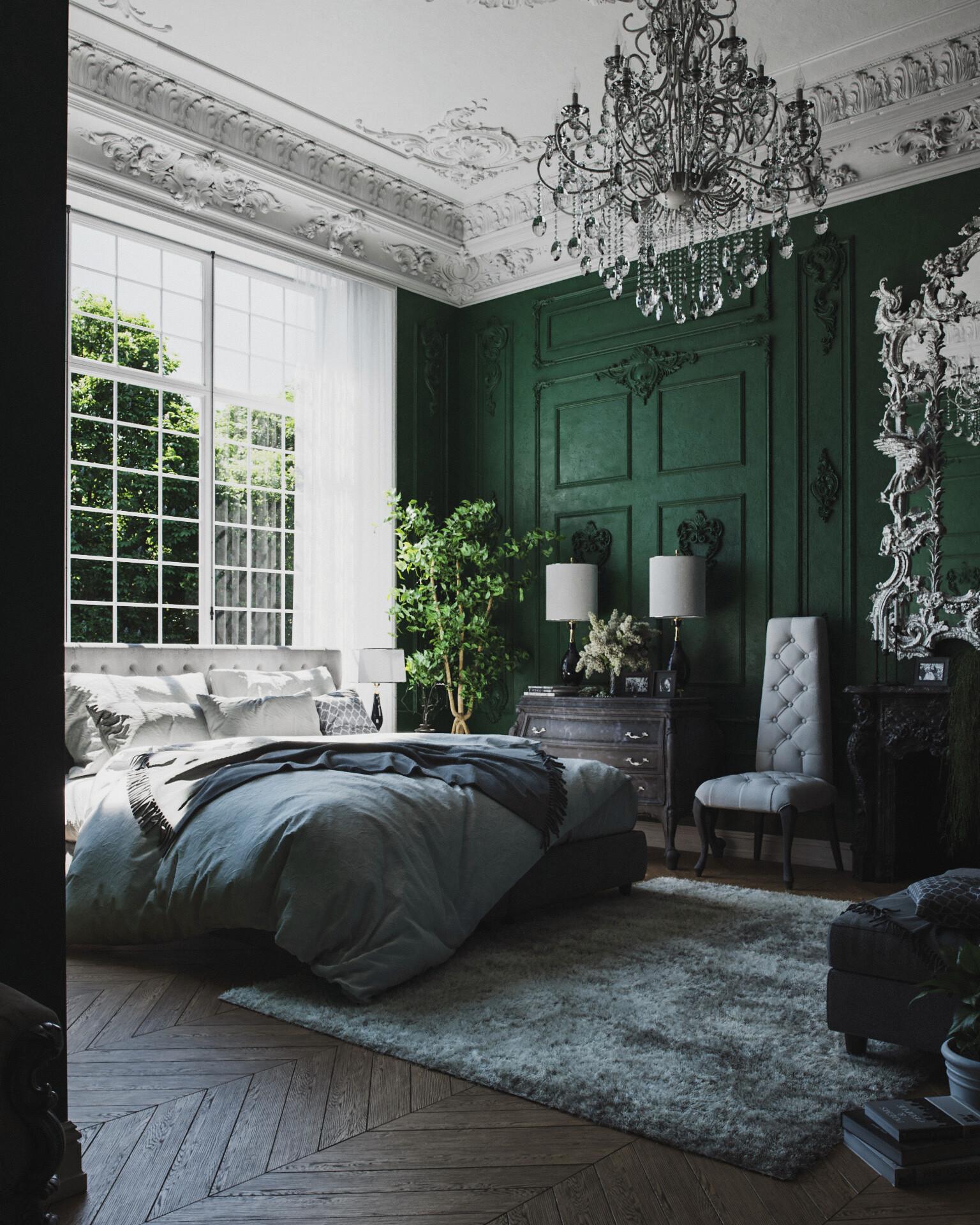 Classical Bedroom by  Paweł Pęcherzewski