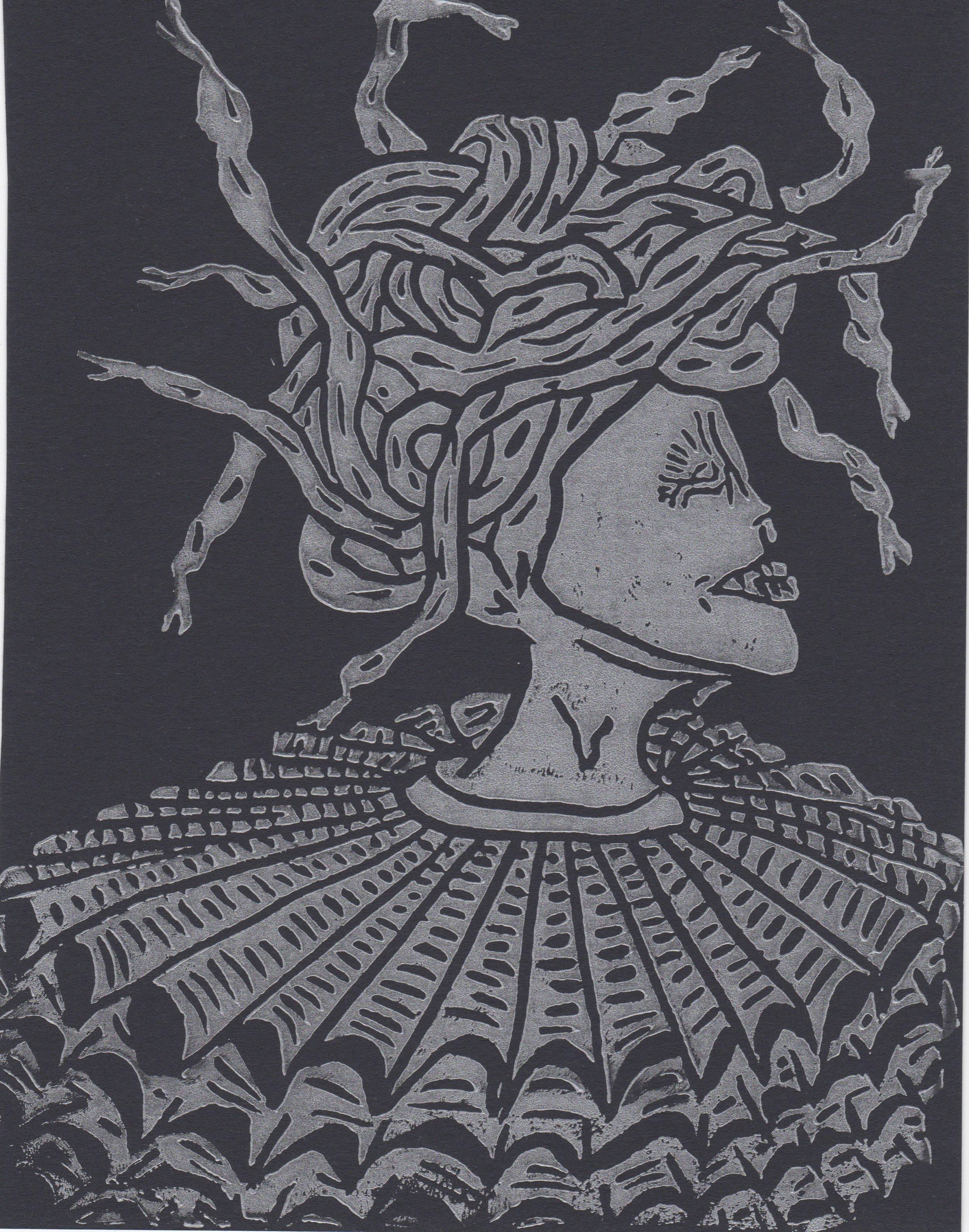 Medusa Collar Print