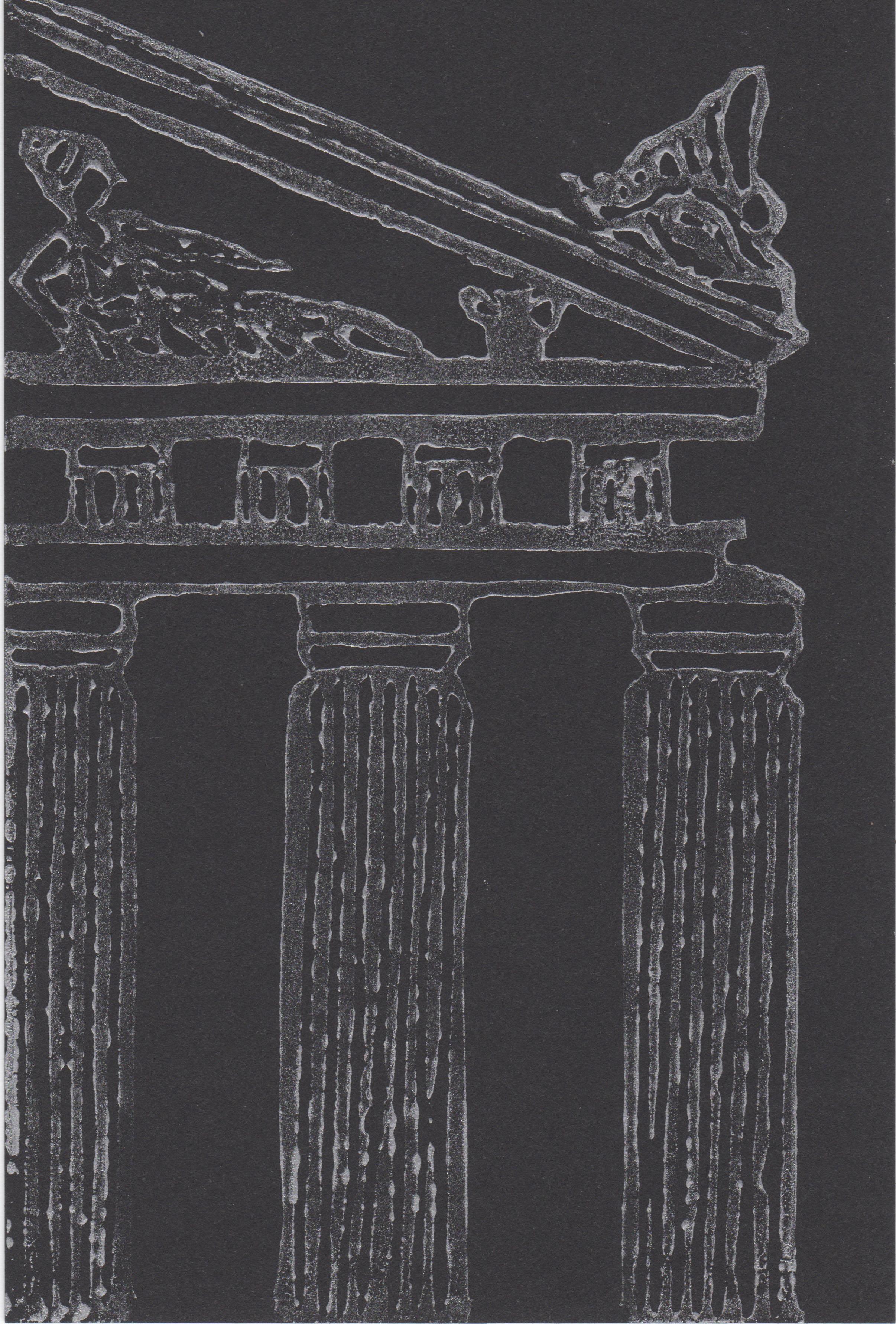 Column Pediment Print