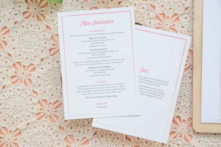 What To Include On Your Information Card Love Carli Wedding Stationery Signage Pretty Paper Goods