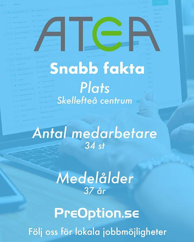 Atea finns över hela Sverige och har över 2000 kompetenta medarbetare inom alla IT-områden. Vill du veta mer om företaget? Gå in på PreOption.se