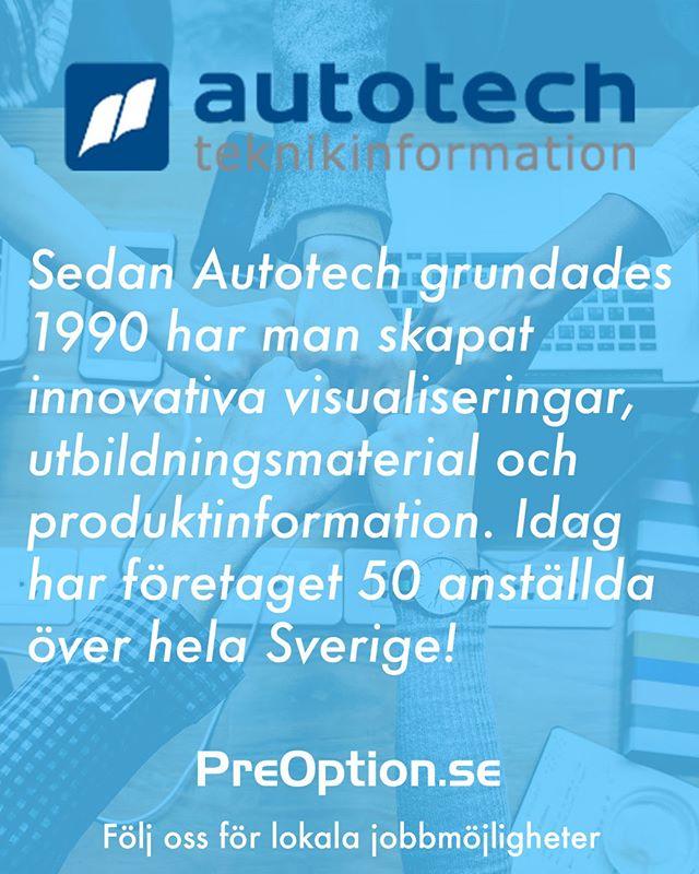 Att förtydliga budskap och förenkla inlärningsprocessen, det är något Autotech jobbar för varje dag. I Skellefteå finns företaget på Solbacken och letar alltid efter nya stjärnor ⭐. Blir du intresserad och vill veta mer? Surfa in på PreOption.se.