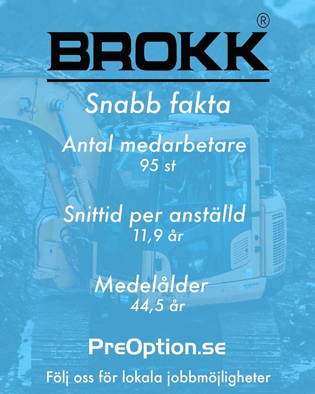 Brokk är ett världsledande företag inom fjärrstyrda maskiner. Företaget har mer än 40 års erfarenhet och söker alltid efter kompetenta medarbetare! 🌍 Intresserad av företaget? Gå in på PreOption.se.