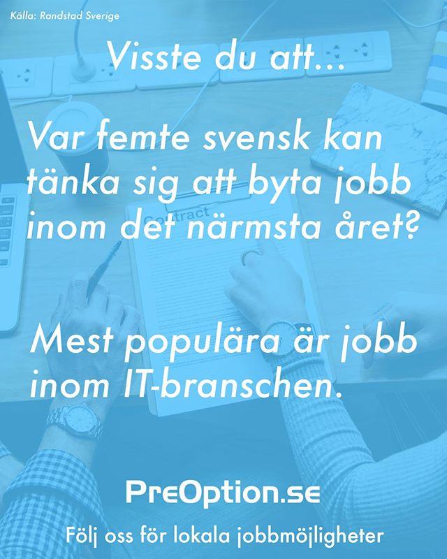Sugen på något nytt? På PreOption.se finns massa lediga tjänster! 🔍