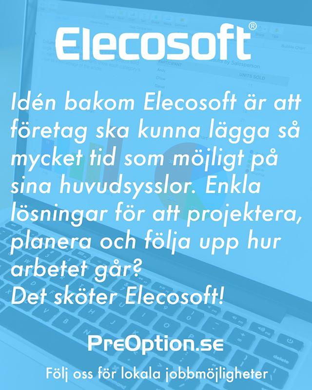 Elecosoft har mer än 80 anställda över hela landet. Vill du veta mer om företaget? Gå in på PreOption.se!