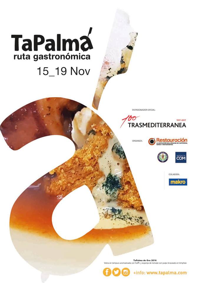 TaPalma 2017 - Tapas & Cocktails fair in Mallorca's capital - 15th to 19th of November.
