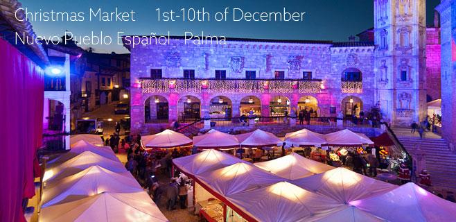 Christmas Market in Palma's Nuevo Pueblo Español
