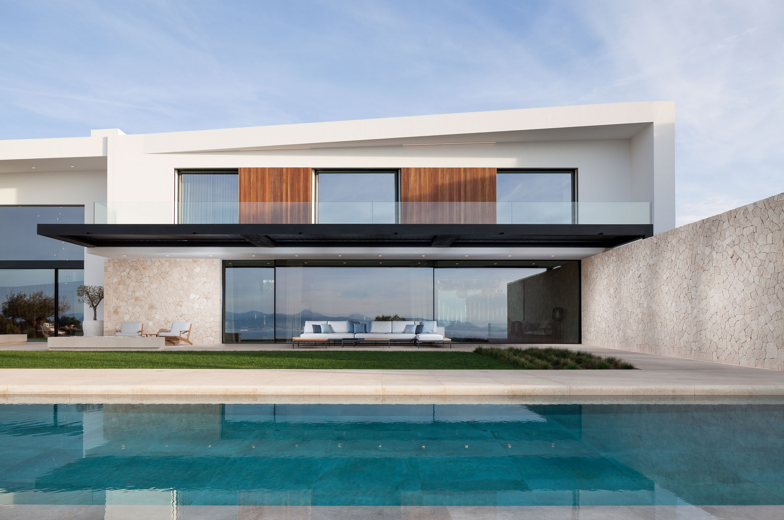Exterior view - pool side. © Hudson Cooper Photography