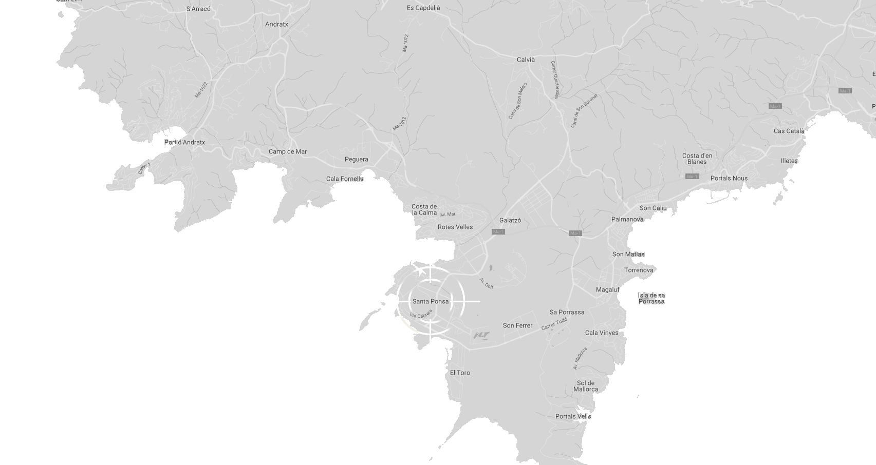 Santa Ponsa on map.