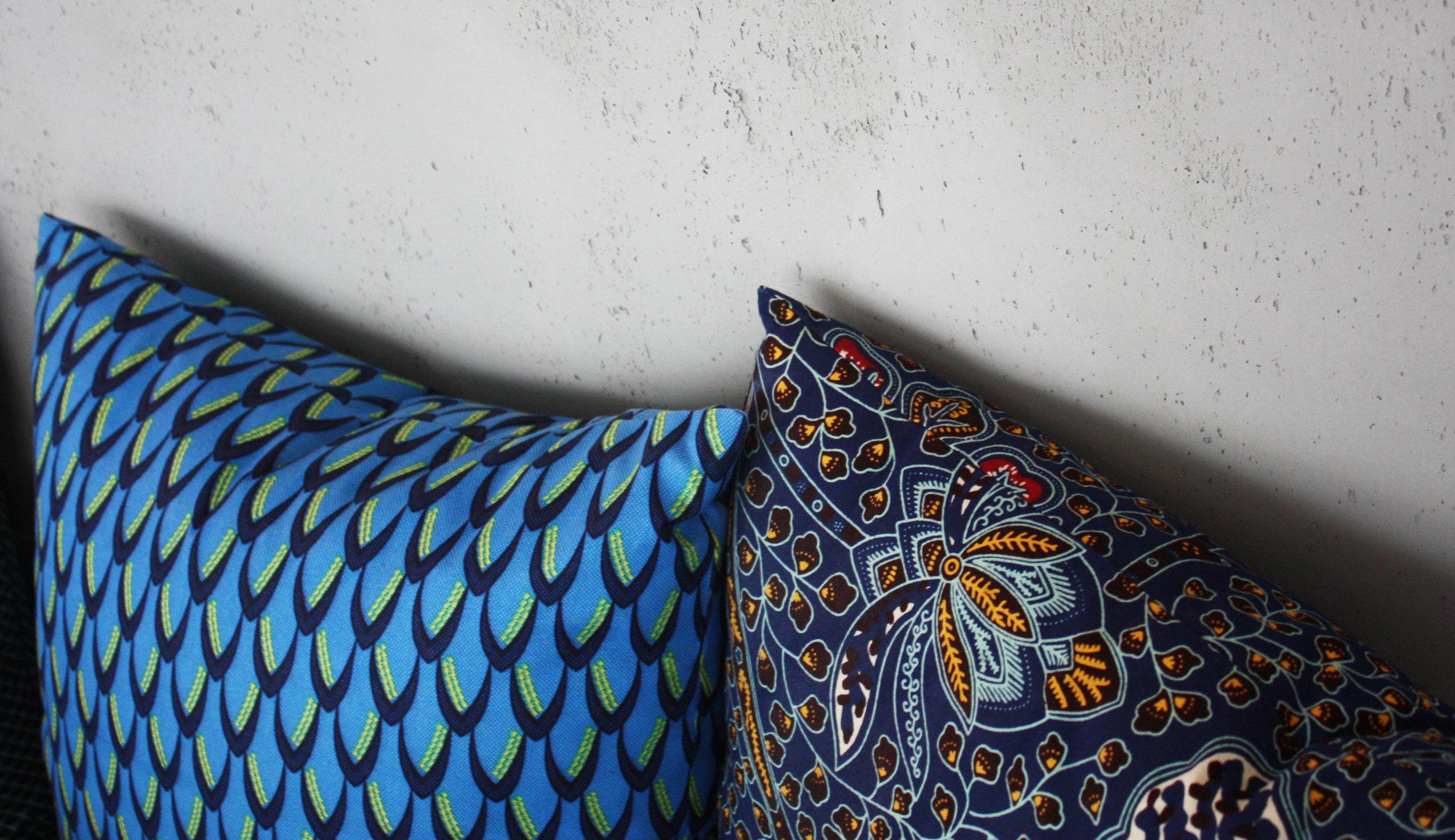 Coussins Pluma et Louxor Nuit de la  Collection Kenya