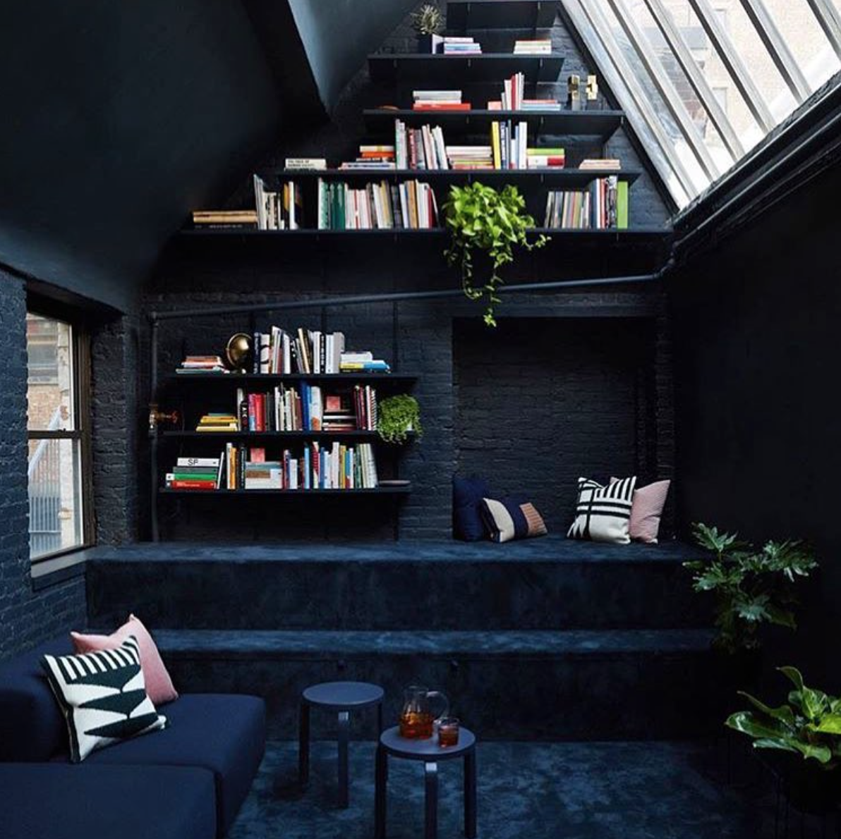"""Blink Interiors - """"This all black library room gives me goosebumps in the best way.Via  @artofinteriors """""""