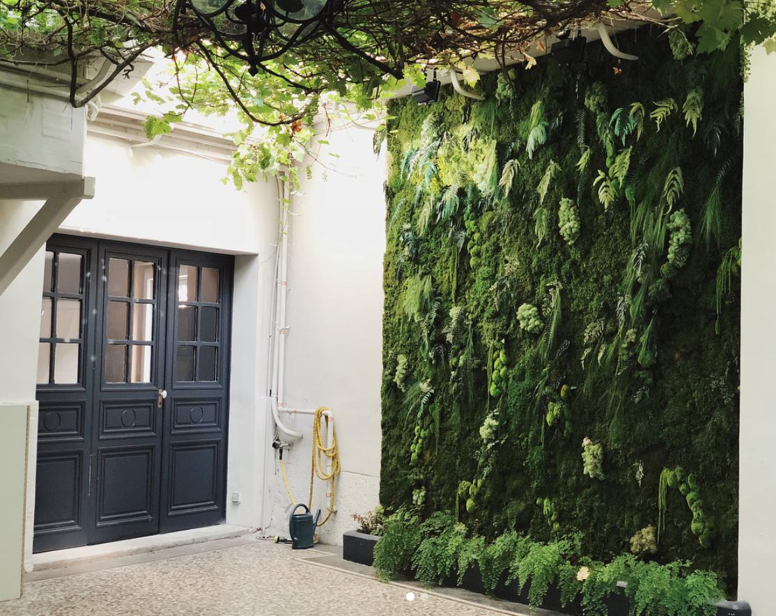 Mur végétal stabilisé - Faubourg des Plantes