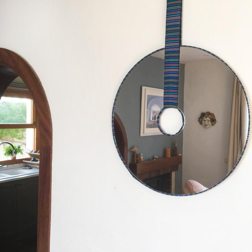 Miroir Arequipa Bleu - Moyen format