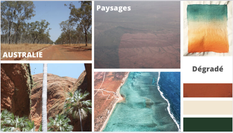 Moodboard  Collection Australie .