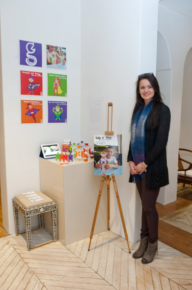Lauren Goritsas and her project, 'Gulp n Give'