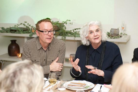 Professor Ross Harley, COFA Dean and Director & Liz Williamson, UNSW Art & Design Head, School of Design Studies