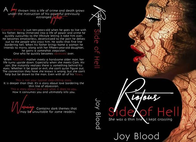 💋💋COVER REVEAL (boost) + PRE-ORDER!💋💋💋 OH. EHM. GEE Joy!!! According to my records you have been holding this baby since January LAST year... how?! Hahahaha.  Riotous: Side Of Hell will be released on Feb 19th. #FINALLY!  I love love this cover and the warning.. ;)   http://amzn.to/2C0ZmcB