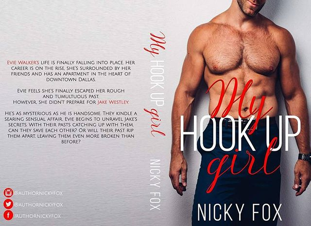 """💓💓COVER REVEAL + PRE-ORDER! 💓💓 I loved working with Author Nicky Fox on the cover of her upcoming book """"My Hookup Girl"""" that will be released on Feb 21st.  You should pre-order it ASAP ;) . . . can't wait to add this paperback on my shelf. #swoon #hotguys  BLURB⬇⬇ """"Evie Walker's life is finally falling into place. Her career is on the rise, she's surrounded by her friends and has an apartment in the heart of downtown Dallas. Evie feels she's finally escaped her rough and tumultuous past.  However, she didn't prepare for Jake Westley. He's as mysterious as he is handsome. They kindle a searing sensual affair. Evie begins to unravel Jake's secrets."""" PREORDER ➡➡➡ http://amzn.to/2BcxSE9"""