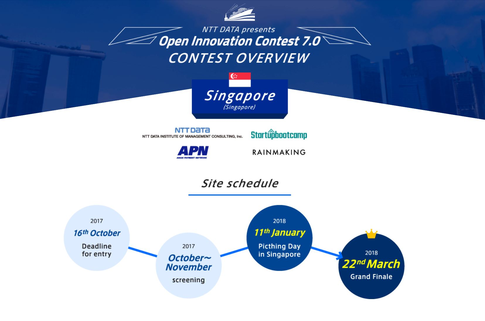 Details on the Singapore Contest