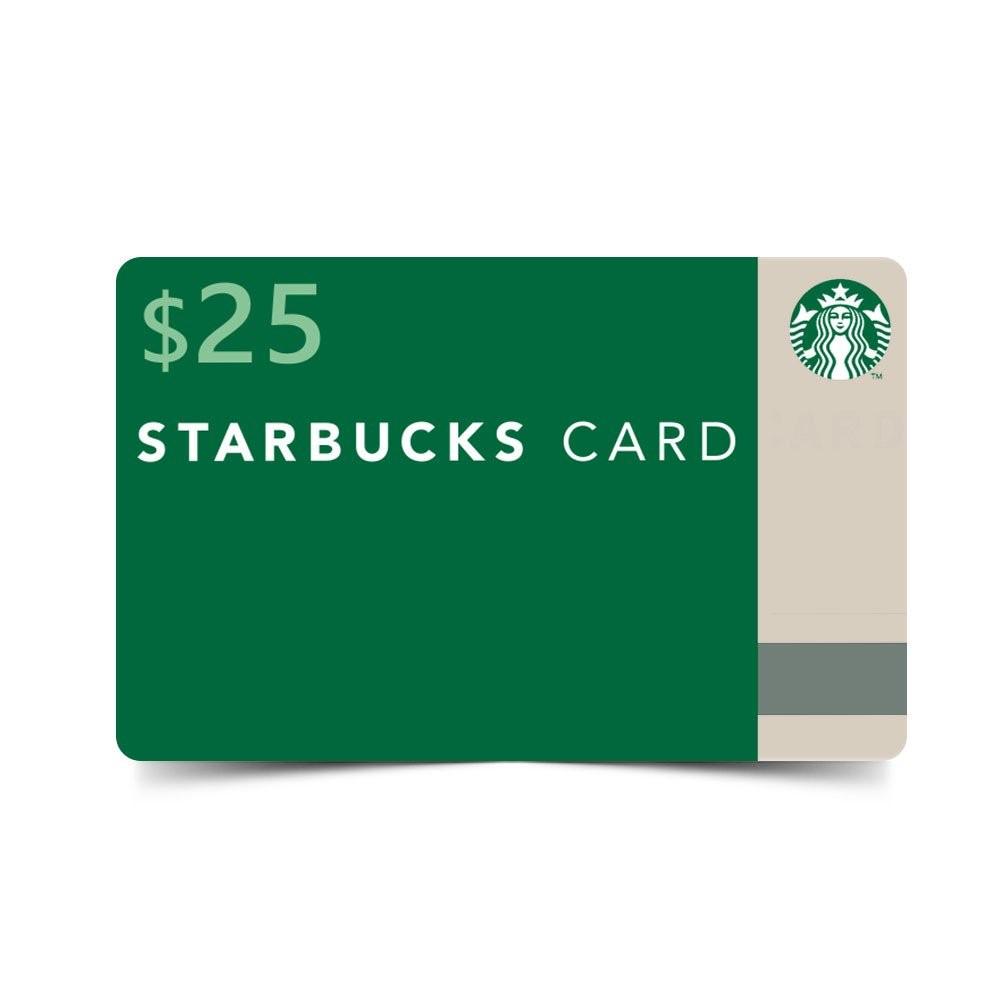 7 POINTS    REDEMPTION CODE: B02   $25 Starbucks Card