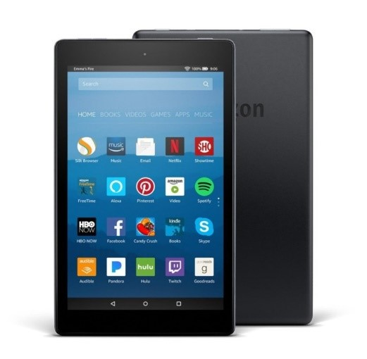 57 POINTS     REDEMPTION CODE: P02   Fire HD8 Amazon Tablet (16GB)