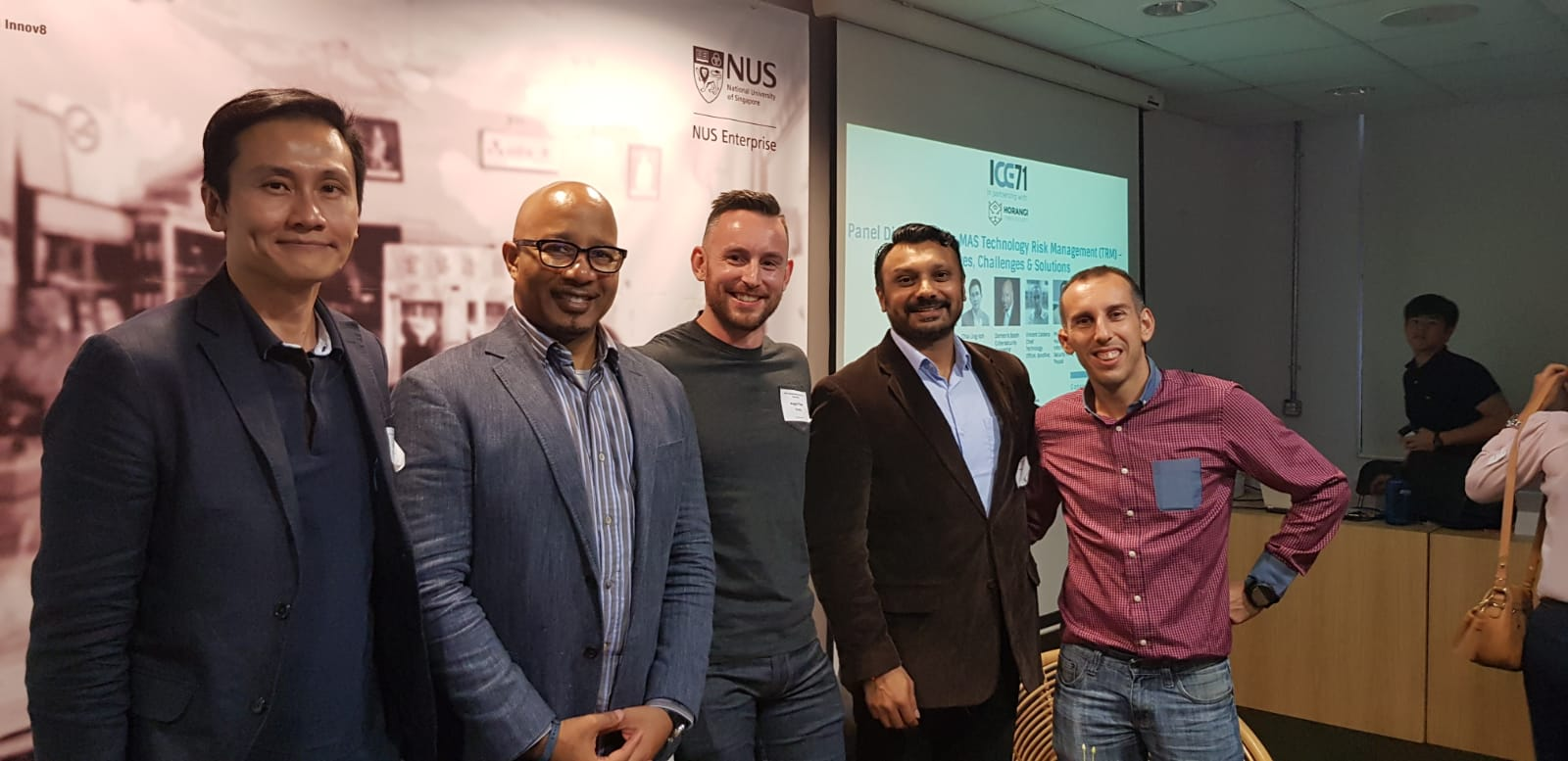 From left to right: Chia Ling Koh (Managing Director, Osborne Clarke), Demetris Booth (Cybersecurity Consultant), Angus Thorn (Head of Incident Response and Threat Intelligence, Horangi), Phoram Mehta (Head of Information Security APAC, Paypal), Vincent Caldeira (Chief Technology Officer, Bondlinc).
