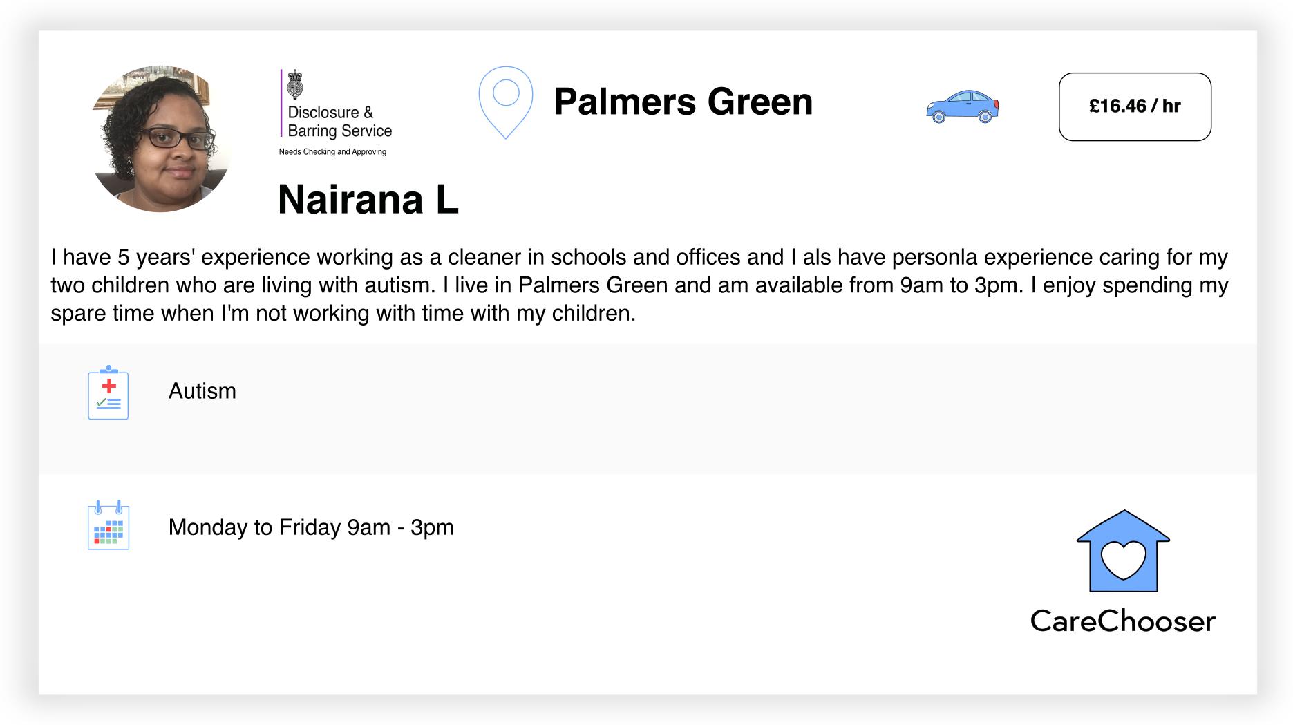 Nairana - Home Care - Palmers Green