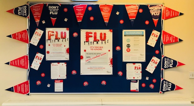 Noticeboards – what information we provide to our patients