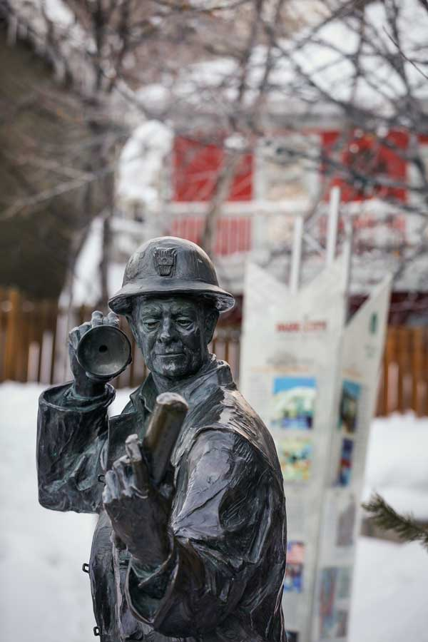 Miners Park Statue