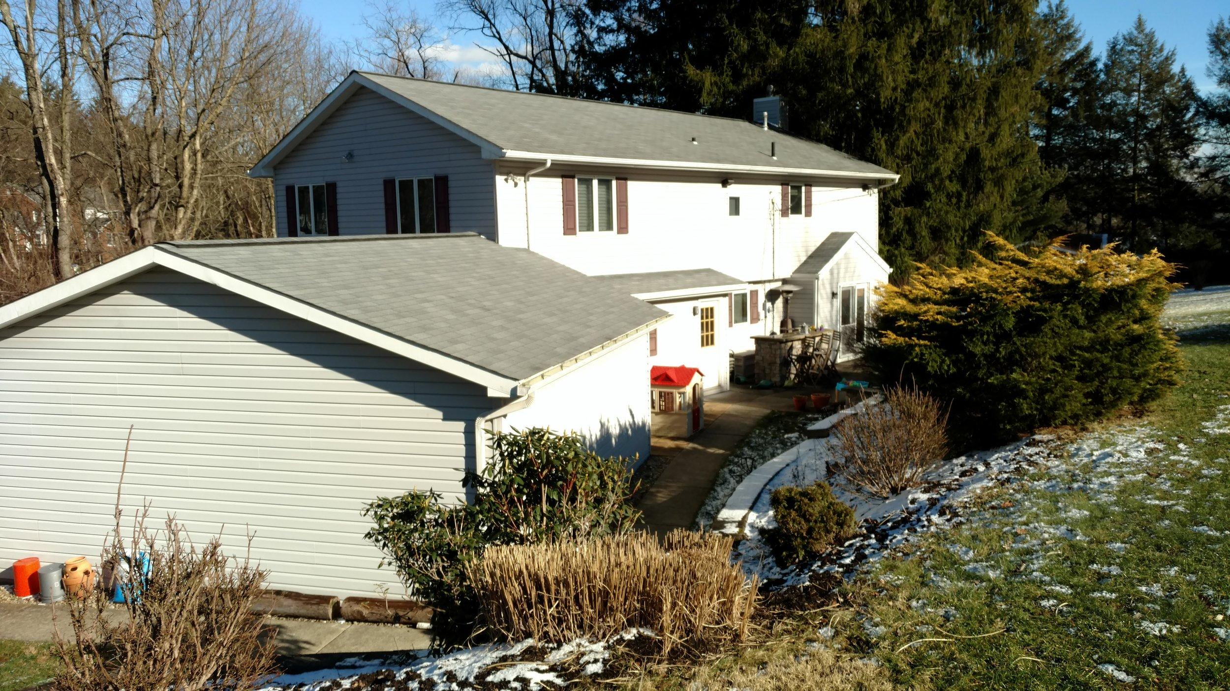 Before: Fox Chapel House Rear Exterior