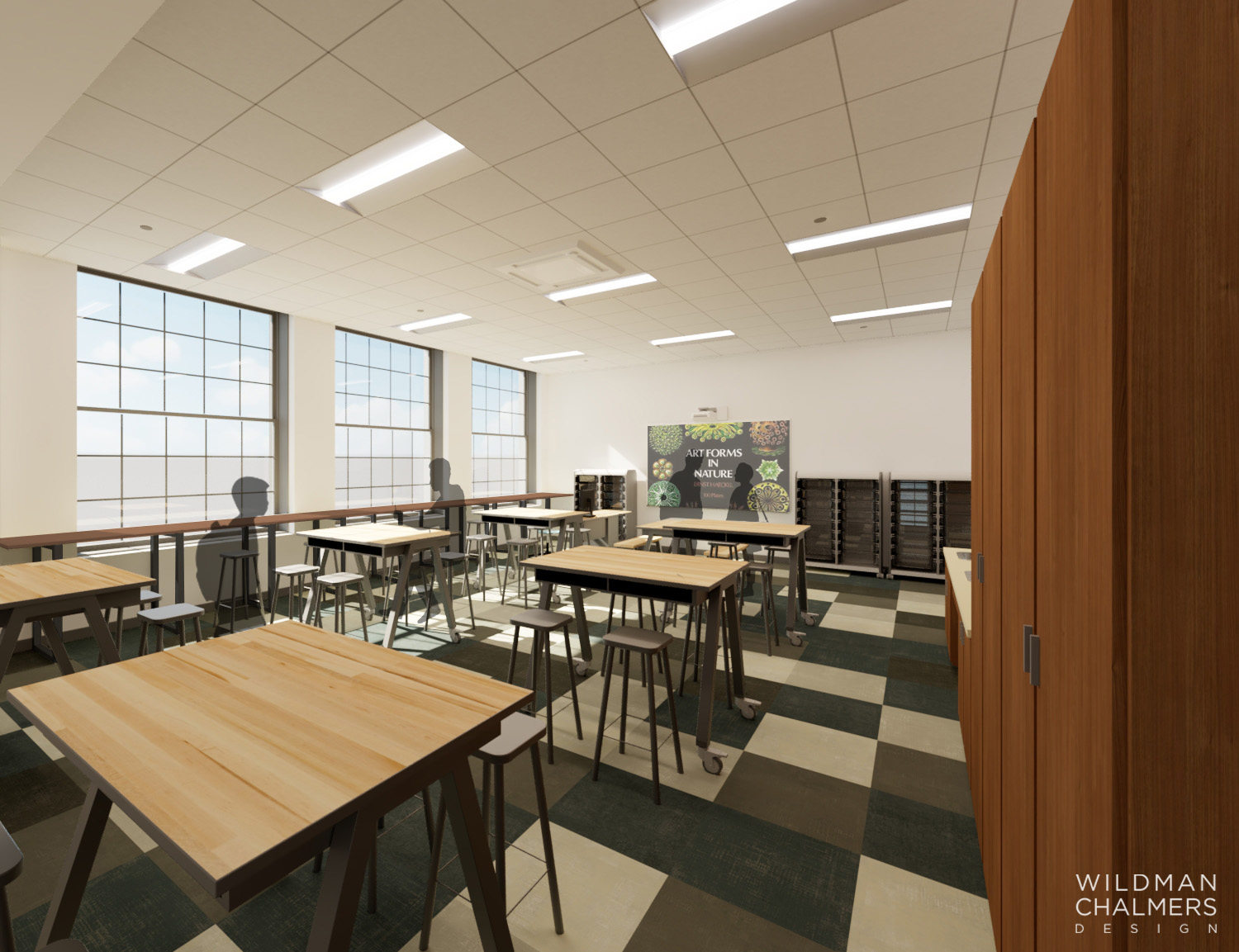 Thinking Lab Rendering of the Environmental Charter School Pittsburgh
