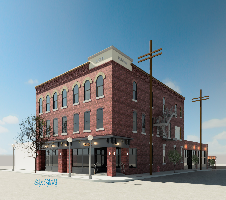 Lohr Building rendering from Wildman Chalmers Design