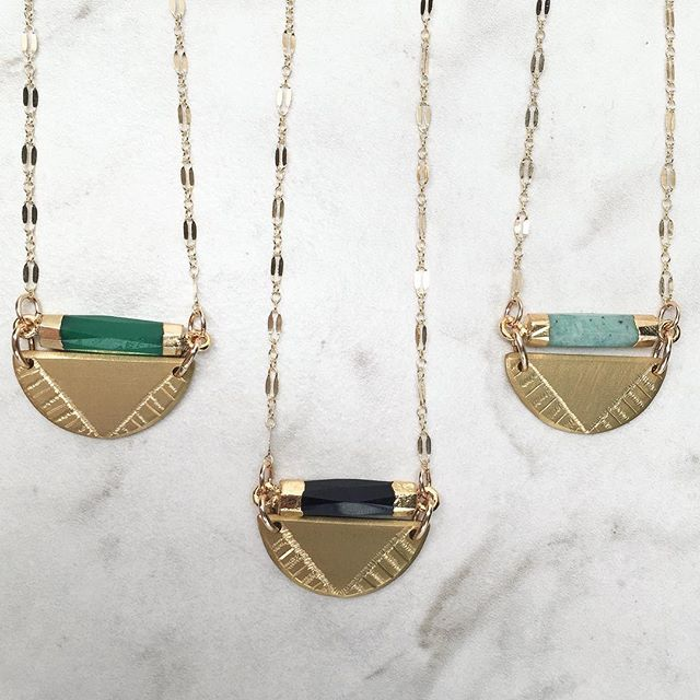 Quick update - I nearly sold out of these beauties over the weekend (I currently only have the Amazonite necklace available(far right)) but they will all be back in stock this weekend with a surprise limited edition Lapis Lazuli necklace up for grabs too! 😍 I'll be sure to post about it when they are back online 💗