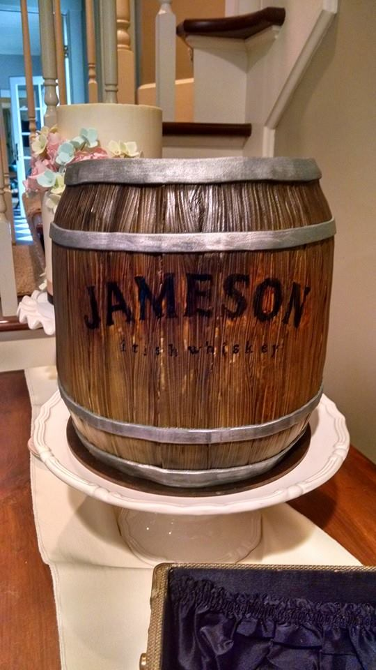 Jameson Barrel Grooms Cake