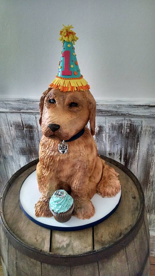 Life size Golden Retriever Puppy Cake