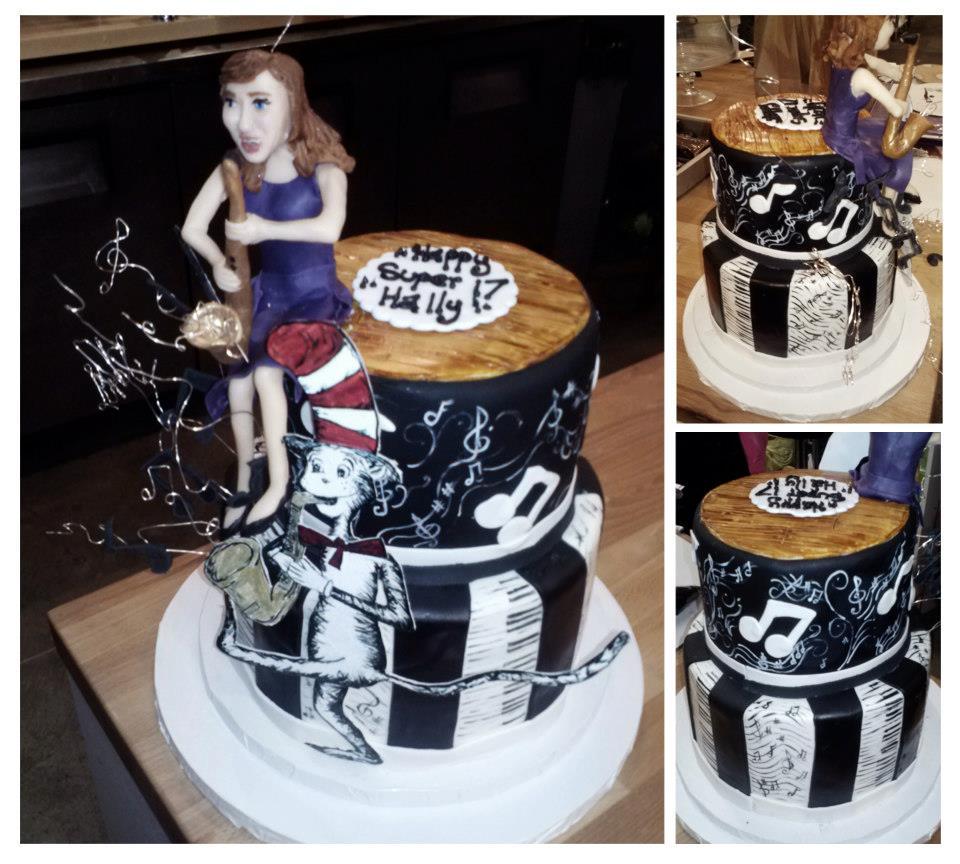 Saxophone Dr. Suess Graduation Cake