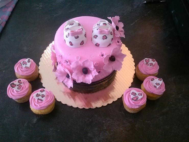 Chetah Baby Shower Cake