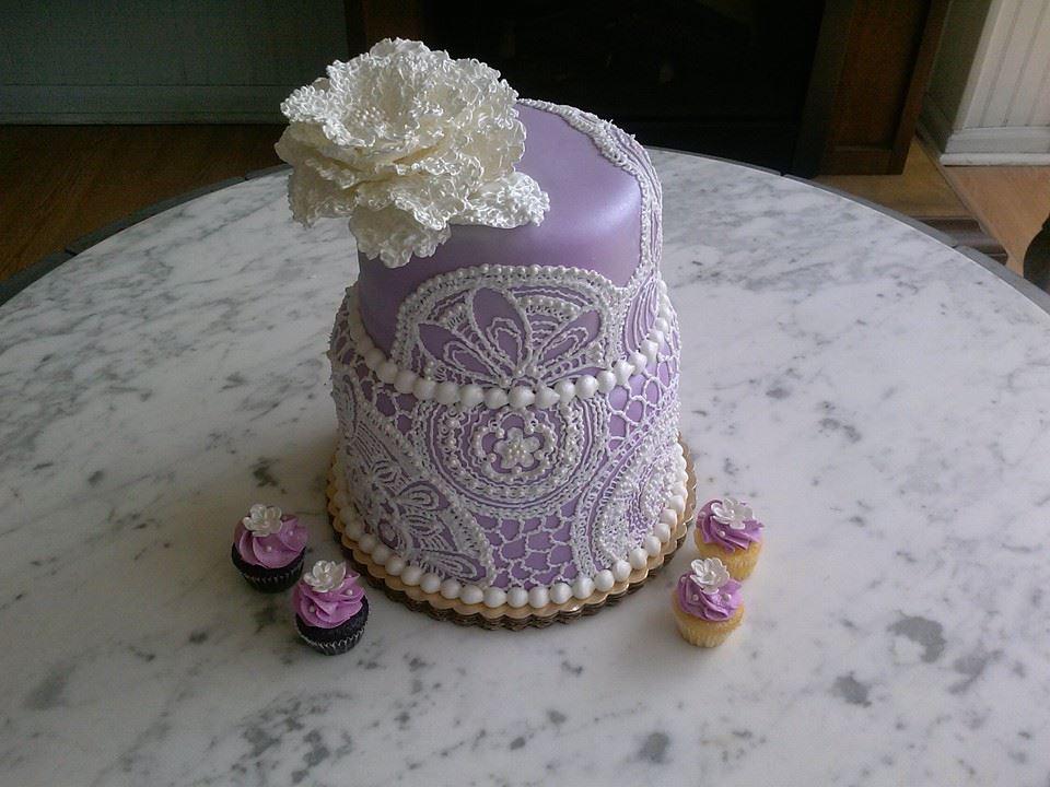 Crochet Inspired cake