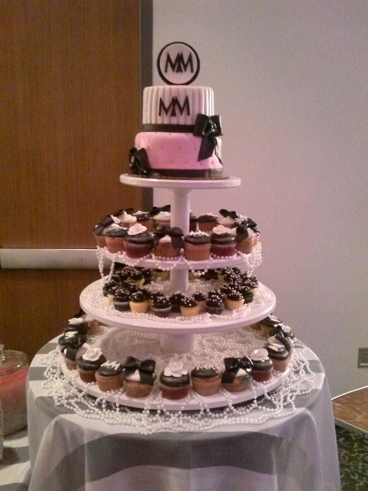 Chanel Sweet 16 Cake and Cupcake Tower