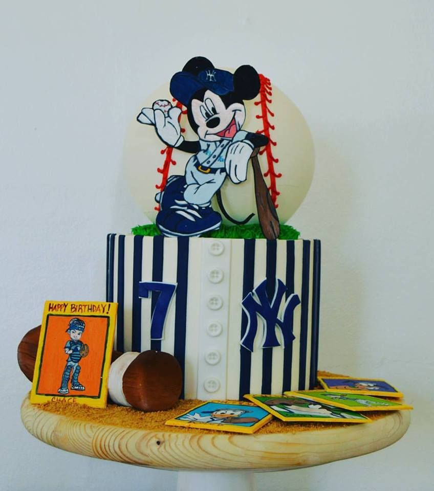 Yankees Mickey Mouse Cake